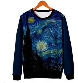 Moletom Van Gogh Starry Night Blusa Roupa Unissex Arte #art