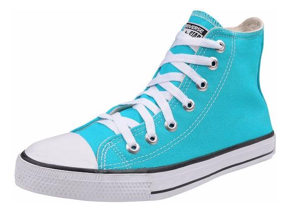 Tênis Converse All Star Chuck Taylor Cano Alto Azul Turquesa