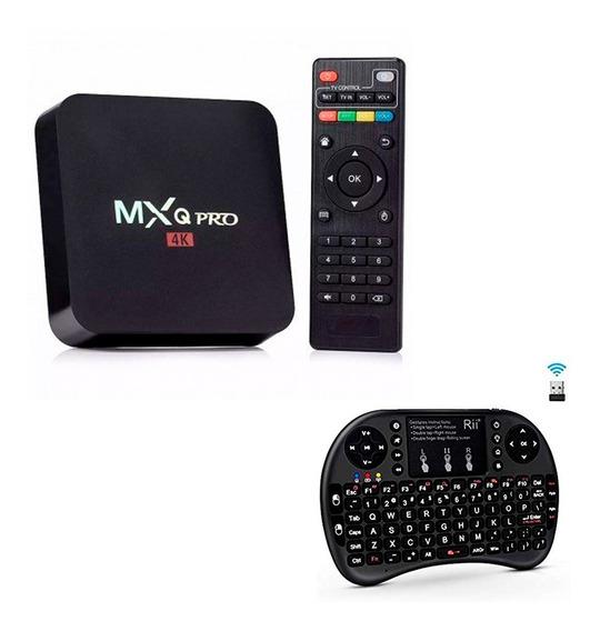 Kit Conversor Smart Tv Box + Teclado Sem Fio