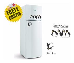 Adesivo Pinguins Caindo Decorativo Geladeira Cozinha Pinguim