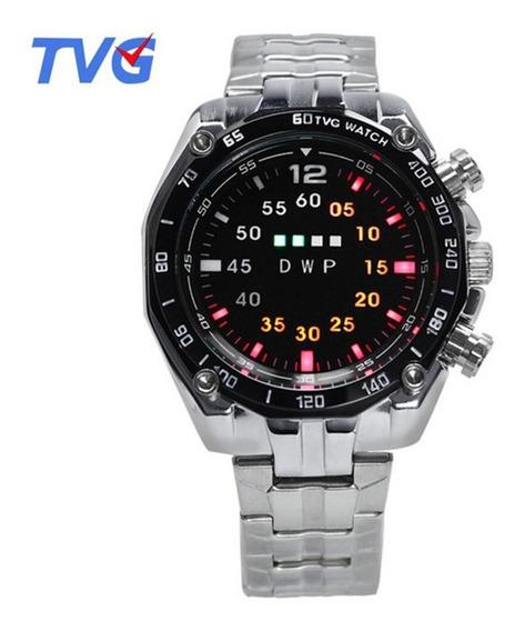 Relógio Digital Binário Tvg Iluminação Leds Elegante Casual