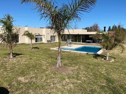 Casa 3 Dorm Parque 2500m2 Pileta Financiacion Barrio Cerrado Chacras De La Reserva