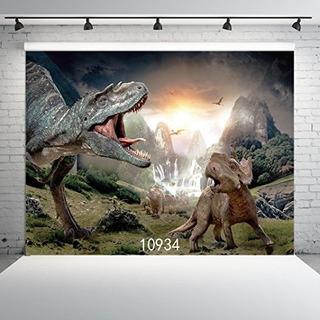 Sjoloon 7x5ft Fotografía Dinosaurio, Fondo De Fotos 3d Para