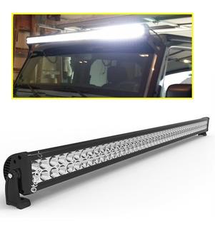 Barras Led 300w + Estrobo 52 Pulgadas Alta Calidad Y Potencia Real Faros Jeep Motos Pick Ups Autos Con 12 Meses Garantia