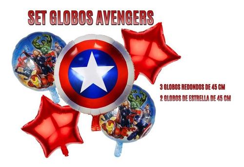 Globos Metalizados Avengers X5