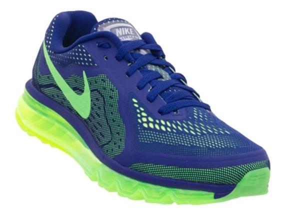 Tênis Nike Air Max 2014 Azul/verde Original