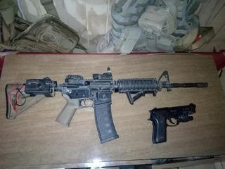 Fusil M4 Airsoft Full Metal , Taurus 9mm Full Metal