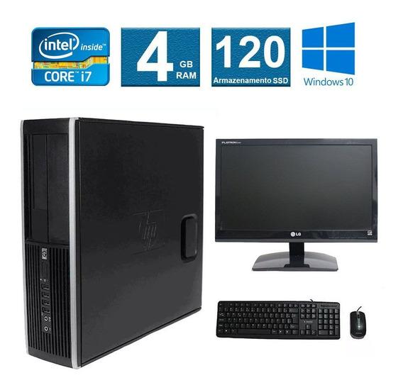 Computador Hp Elite 8200 I7 4gb 120ssd Monitor 19 Polegadas