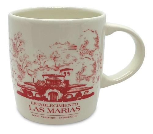 Taza Cerámica Las Marías Rojo
