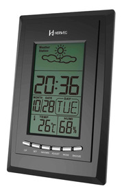 Despertador Digital Herweg 2970 034 Termometro Calendario