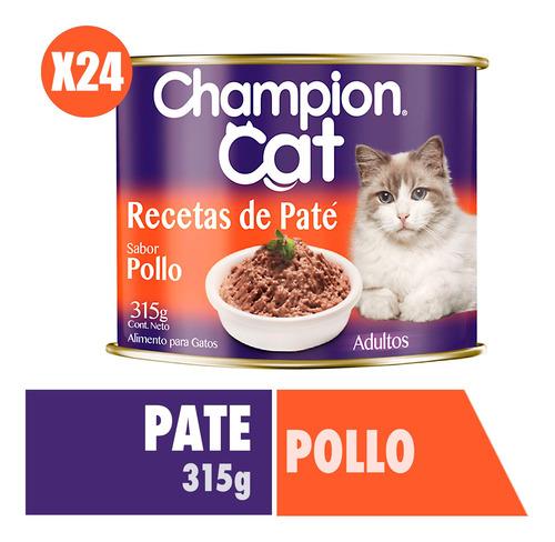 Champion Cat Pack 24 Und - Recetas De Paté Pollo 315g