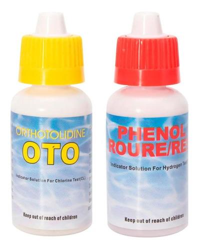 Reactivos Ph Y Cloro (repuestos) Oto Y Phenol Para Piscinas
