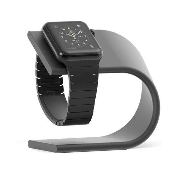 Dock Metal Suporte Mesa Base Apple Watch iPhone 7 8 Plus X