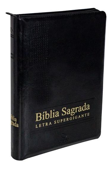 Bíblia Sagrada Supergigante Naa Com Ziper E Índice (grande)