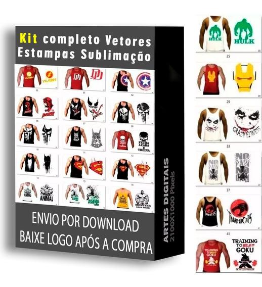 Kit Completo Vetores Estampas Sublimação Vetor Vintage