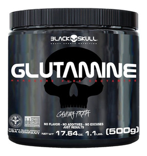 Glutamine Isolate 500g Shield Black Skull Pure Caveira Preta