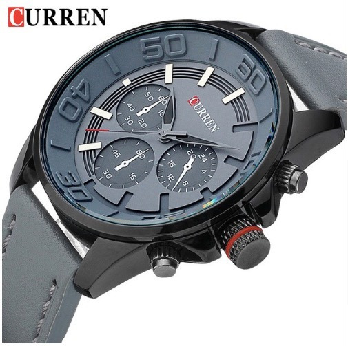 Relógio Luxo Curren Masculino Pulseira Couro