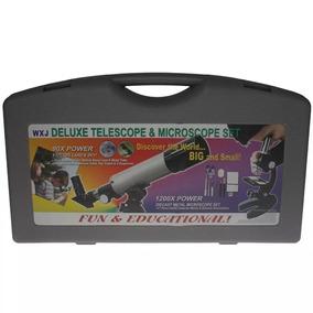 Telescópio Refrator 50mm + Microscópio Promoção F/gratis Kit