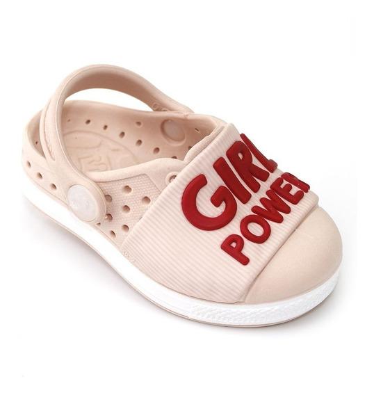 Babuche Plugt Joy Girl Power Infantil - Rosa/vermelho