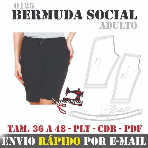 Molde Digital Modelagem De Bermuda Social Feminina Adulto