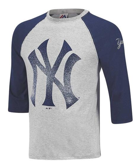 Playera Beisbol Caballero Yankees Majestic Mfadqio-ny T4