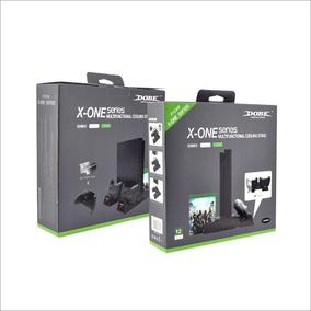 Suporte Base Vertical Xbox One X S Cooler Dock + 2 Baterias
