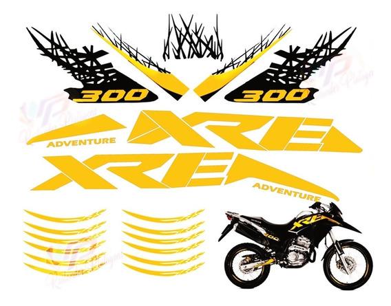 Kit Faixas Adesivos Emblema Xre 300 Adventure (kit Completo) Cores Personalizadas