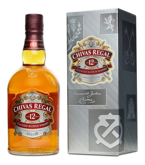 Chivas Regal 12 Años Whisky Escocés Botella 750 Ml + Estuche