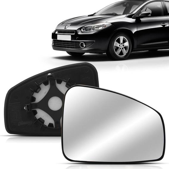 Lente Espelho Retrovisor Com Placa Fluence 10 A 14 15 16 17