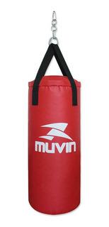 Saco De Pancada 70cm X 30cm Scp-100 - Vermelho - Muvin