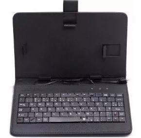 Capa Case Carteira Tablet Com Teclado Usb 10.0 Preto