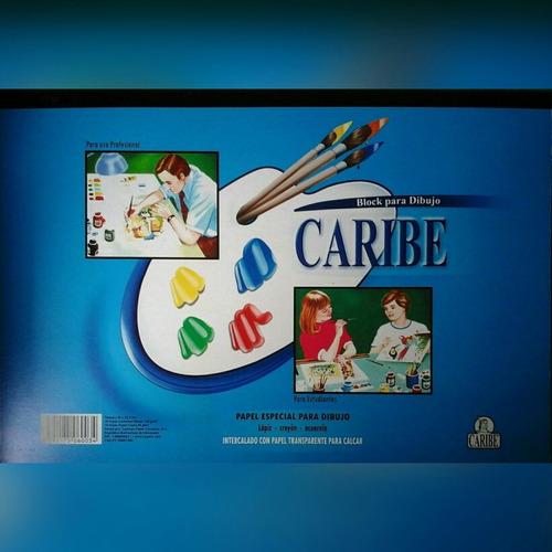 Block De Dibujo Grande Caribe  48cm X 32,5cmm