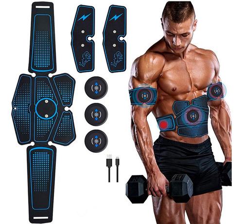 Imagen 1 de 5 de Electro Estimulador Muscular 06 Vak Ems Pro Pad Cintura +abs