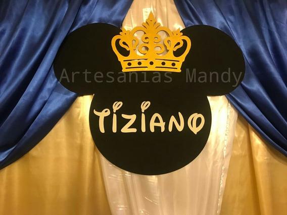 Figura Cara Mickey Mouse Príncipe Gigante Fibrofacil