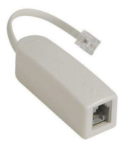 Micro Filtro Adsl Simples P/ Modem E Telefone 10 Pçs