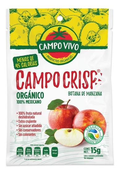 Botana De Manzana Orgánica Campo Vivo Bolsa 15gr