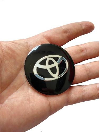 Emblema Toyota 56 Mm Aluminio Con Relieve