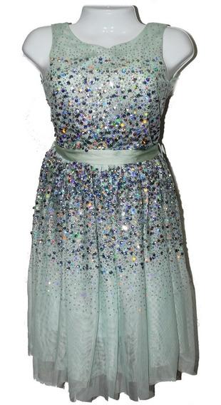 Vestido Niña Princesa Elegante Con Brillantes De H & M