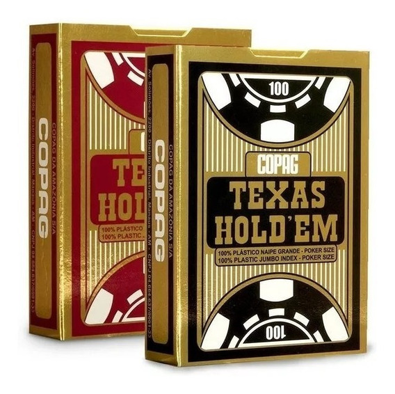 2 Baralho Plastico Copag Texas Holdem Poker Naipe Grande