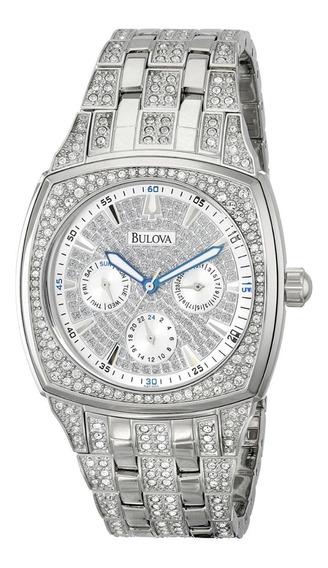 Relógio Bulova Suíço Diamantado Lindo Exclusivo Top!!!
