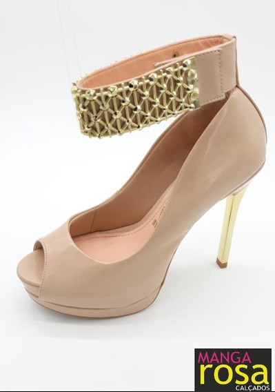 Sapato Feminino Peep Toe De Luxo Invoice 3464
