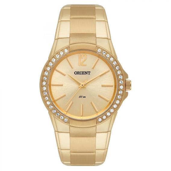 Relógio Original Feminino Dourado Cristais Swarouski Orient