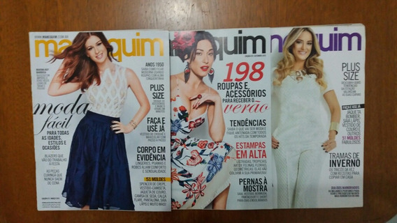 Lote Com 3 Revistas Manequim Usadas