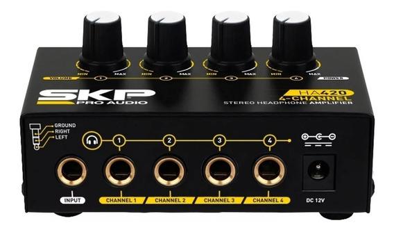 Amplificador Skp Para Fone De Ouvido Ha 420 4 Canais