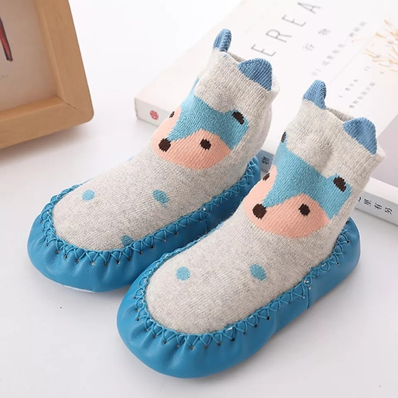 Pantuflas Antideslizante Zapato Primeros Pasos Para Bebé