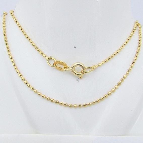 3457 Corrente Ouro Masculina 18k 45 Cm