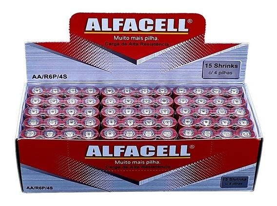 Pilha Alfacell Normal Aa 2a R6p 1,5v Caixa 60 Uni. Revenda