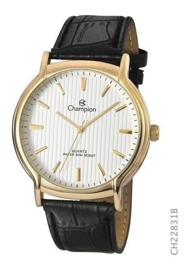 Relógio Champion Masculino Com Pulseira De Couro Ch22831b