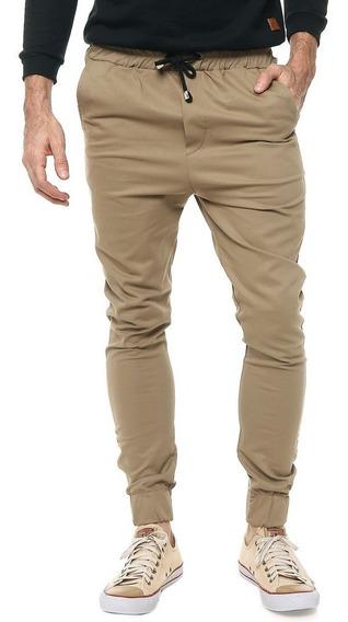 Pantalón Gabardina Jogger Hombre Slim Fit Varios Colores!!!