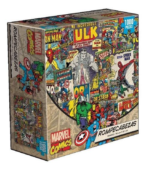 Marvel Comics Collage Spiderman Thor Rompecabezas 1k Novelty